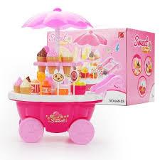 cuisine fille jouet chariots de simulation fille jouets de cuisine crème glacée boutique