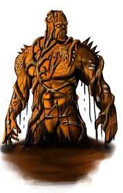 entry 7 by phyxan for draw an orange swamp monster character