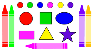 learn colors and shapes with crazy crayons coloring pages