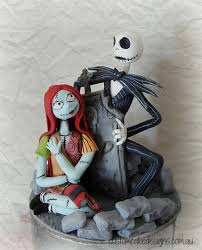 nightmare before fondant figurines cake by custom cake