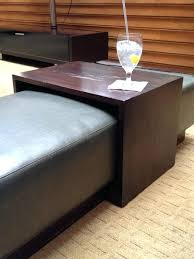 ottoman ottoman storage and tray square ottoman coffee table