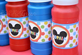 mickey mouse party favors diy mickey mouse birthday party ideas