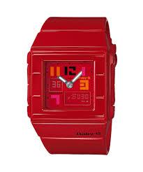 Jam Tangan Casio Karet jam tangan casio wanita dengan tali karet merah arlojinesia