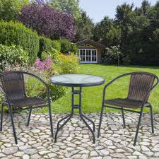 Metal Garden Table And Chairs Uk 1 Bistro Patio Table Set For Two With Metal Frame And Chairs 3