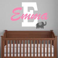 Custom Nursery Wall Decals Personalized Nursery Wall Decals Baby Name Decals