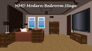 mmd modern bedroom stage converted in sketchup by swiftcat