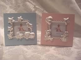 cornice battesimo bimbo bomboniere bimbo bimba cornice legno rosa o azzurro 14x14cm