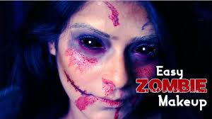 easy zombie makeup halloween special makeup tutorial face