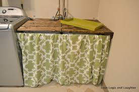 make it mommy laundry room makeover part 2 utility sink skirt