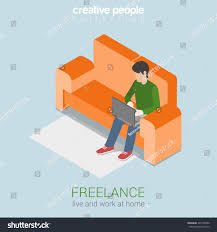 Graphic Design Works At Home Freelance Work Home Flat 3d Web Stock Vector 245126590 Shutterstock