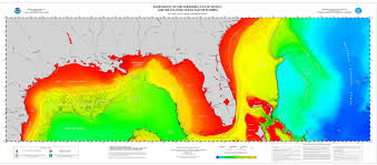 Gulf Coast Of Florida Map by Poster Northern Gulf Of Mexico And Atlantic Coast Bathymetry Ncei