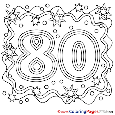 coloring pages happy birthday 80 years coloring sheets happy birthday free