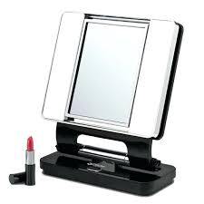 magnification mirror with light magnification mirror light natural lighted makeup black mirror
