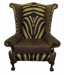 Zebra Dining Chair Covers Awesome Modern Leather Zebra Pattern Wing Chair Design Come With