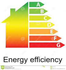house energy efficiency energy efficiency rating and house stock vector illustration of
