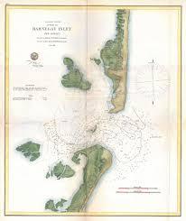 Long Beach Map File 1865 U S Coast Survey Map Of Barnegat Inlet Long Beach