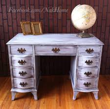 Victorian Vanity Table Furniture Makeover Shabby Chic Gray Antique Vintage Vanity Desk