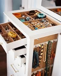 jewelry organizer white