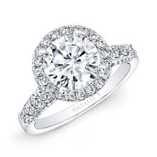 halo engagement rings 18k white gold halo engagement ring nk29376