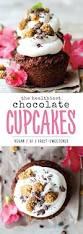 healthy chocolate cupcakes vegan gluten free date sweetened