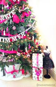 pink model themed tree