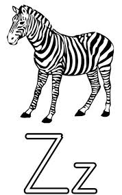 the letter z coloring page for kids free printable picture