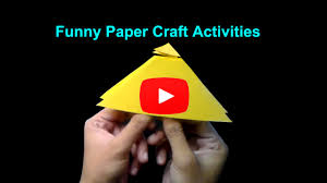 funny paper activities diy origami paper craft for kids