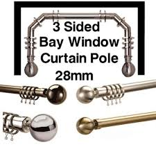 5 Sided Curtain Pole For Bay Window Bay Window Curtain Poles Bay Poles Direct Fabrics