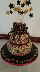 leopard print 40th birthday cake the clever little cake company