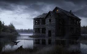 animated haunted house desktop wallpaper wallpapersafari