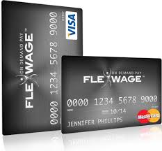 reloadable credit card flexwage payroll cards