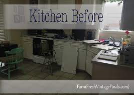 Can I Paint Over Laminate Kitchen Cabinets Painted Laminate Kitchen Cabinets Farm Fresh Vintage Finds