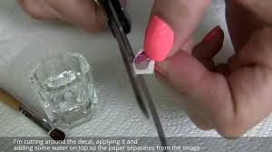 how to apply water nail decals stickers over gelish gel polish