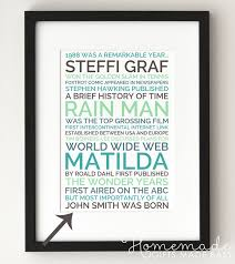 new personalized gift time gift personalized 30th birthday poster gift