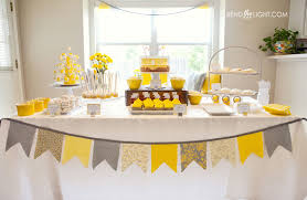 yellow and gray baby shower baby shower food ideas baby shower ideas yellow and white