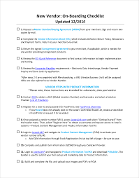 onboarding checklist template u2013 15 free word excel pdf