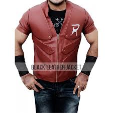 leather vest robin vest batman arkham city leather vest