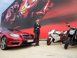 mercedes motorcycle ducati ceo receives mercedes benz cls 63 amg motorcycle com news