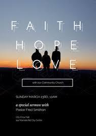 faith hope love church event flyer template
