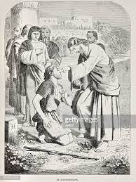 Jesus Healed The Blind Man Engraved Image Stock Photos And Pictures Getty Images