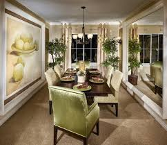 delightful mirrors in the dining room