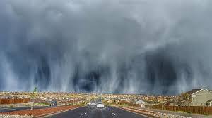 pattern of white clouds in streaks hail streaks colorado sky in stunning display cloud weather and