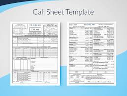 creating professional call sheets free template download
