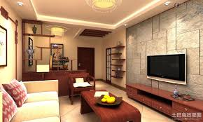 Living Room Simple With Tv Small Apartment Background Wall