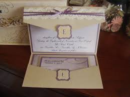 project center wedding invitation