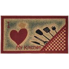 Brown Kitchen Rugs Non Slip Backing Kitchen Rugs U0026 Mats Mats The Home Depot