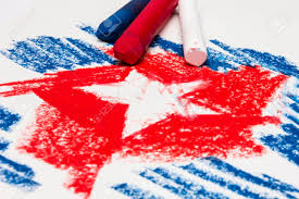 Red White Flag With Blue Star A Star In Red White And Blue Pastel Stock Photo Picture And