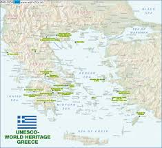 Map Greece by Map Of Unesco World Heritage Greece Map In The Atlas Of The