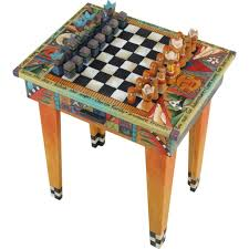 Designer Chess Sets by Sticks Fliptop Game Table With Drawer Gam043 D11520 Artistic