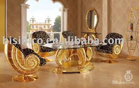 gold dining table set new item luxury antique gold plated new style wooden dining room